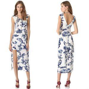 Elizabeth & James M Silk Hipster Asian Print Dress
